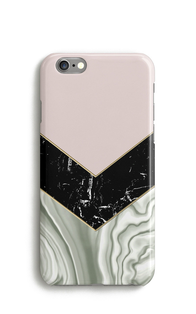 Agate Marble Chevron Cream Pink Phone Case by Harper & Blake