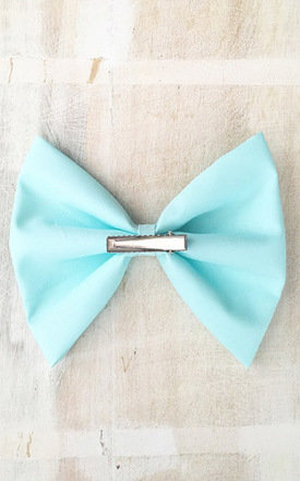 Pastel Mint Oversized Hair Bow by LULU IN THE SKY