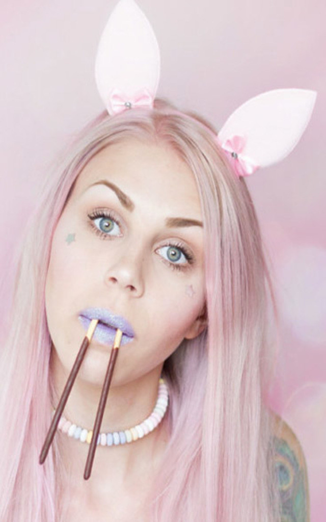 Pastel Pink Bunny Ears by LULU IN THE SKY