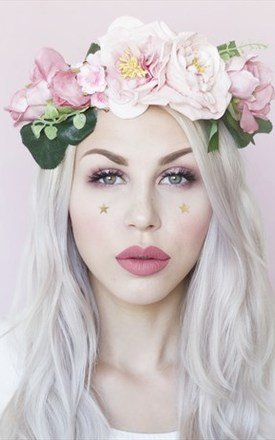 LULU Pastel Pink Flower Mix Flower Crown by LULU IN THE SKY