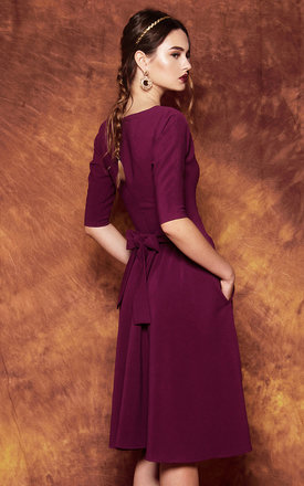 Purple flared dress by KASIA MICIAK
