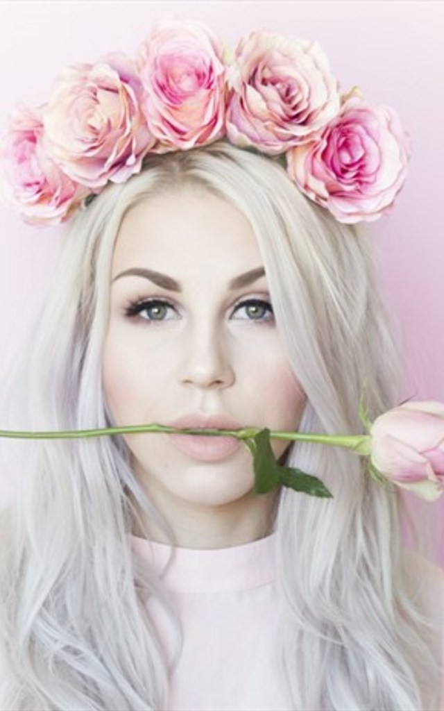 BARDOT Pink Lux Rose Flower Crown by LULU IN THE SKY