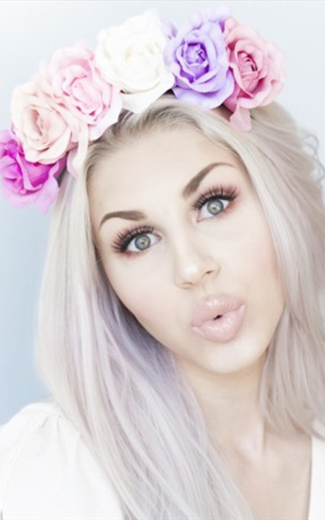 MARTE Pastel Rose Flower Crown by LULU IN THE SKY
