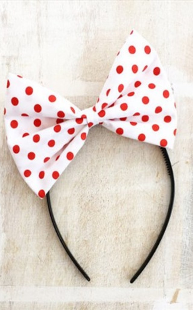With Polka Dot Oversized Bow Headband by LULU IN THE SKY