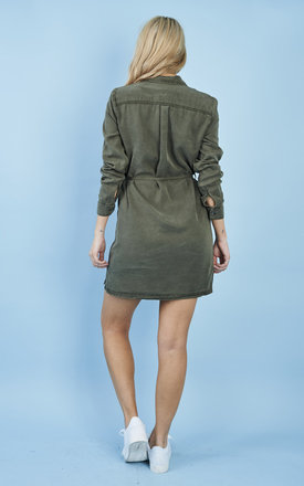 IVY GREEN SHIRT DRESS by Noisy May