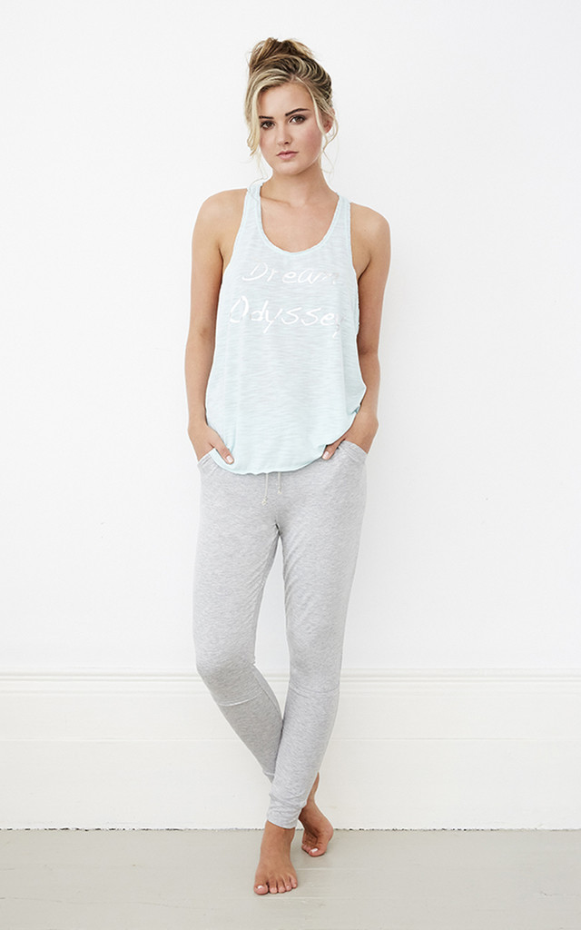 Loungewear Pyjamas Set in Mint and Grey by A Gift From The Gods
