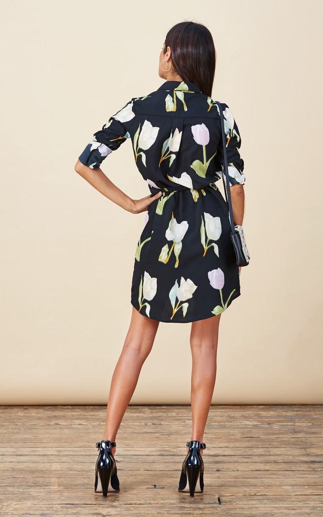 Mini Shirt Dress In Tulip Print image