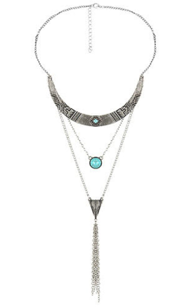 Lena Necklace in Silver by Kiki Belle