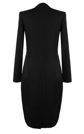 Midi Dress with High Neck in Black by so.Nife