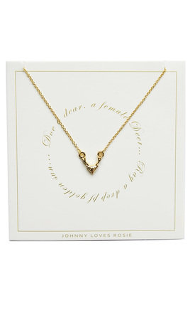 Stag Gift Card Necklace by Johnny Loves Rosie