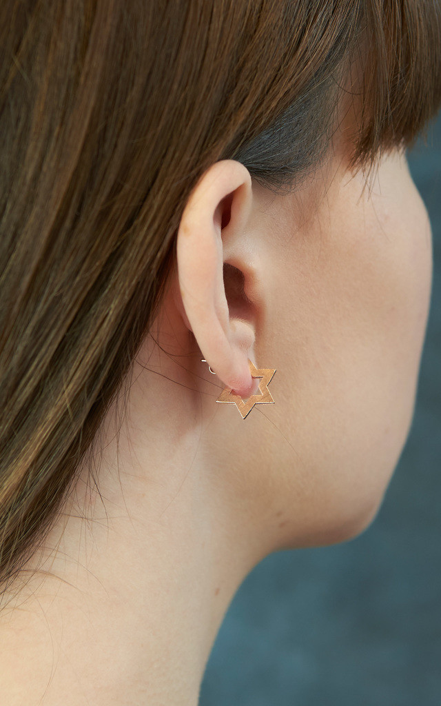 Contemporary Star Stud Earrings Rose Gold by DOSE of ROSE