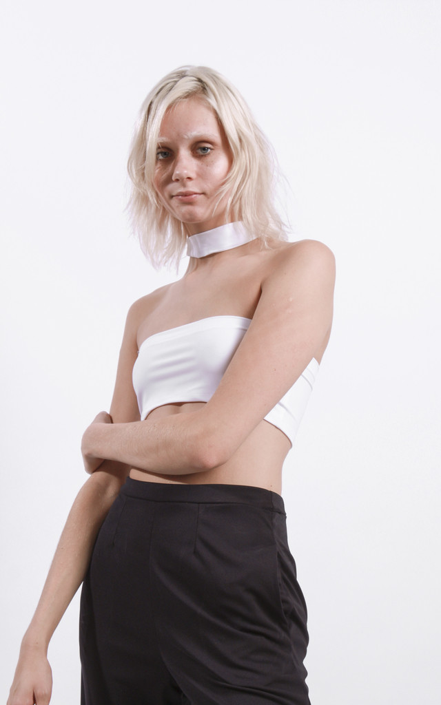 White Harness Bandeau by STUDIO LBW