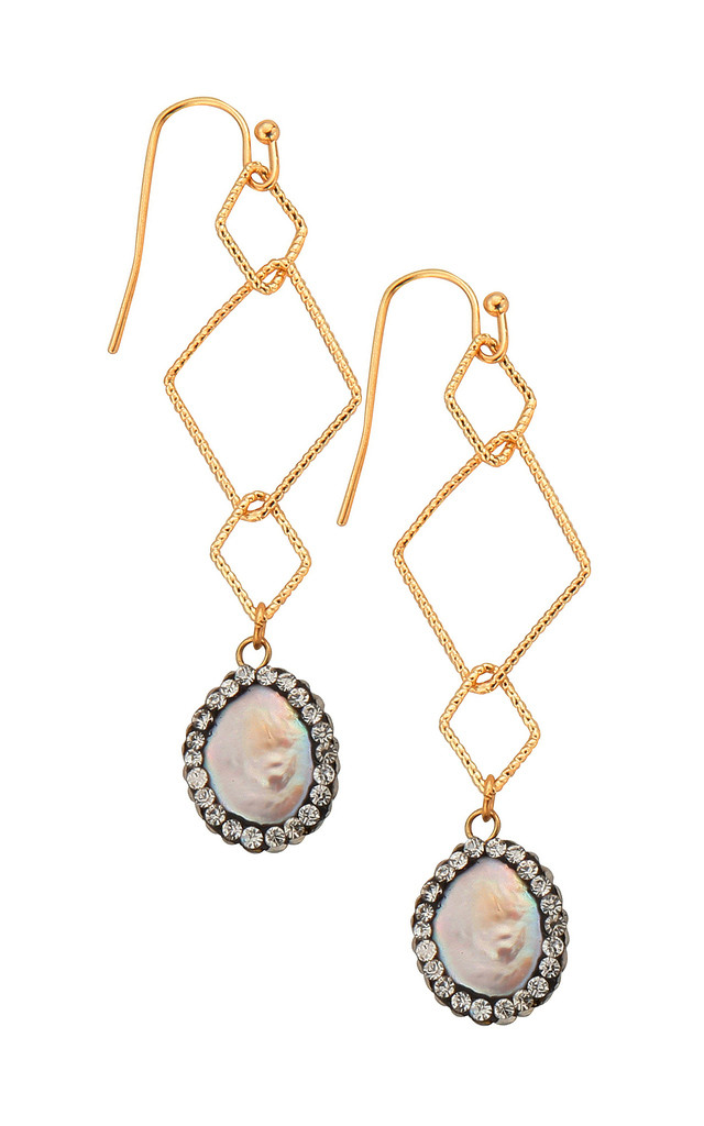 Ella Pearl Drop Earrings by Smashglam