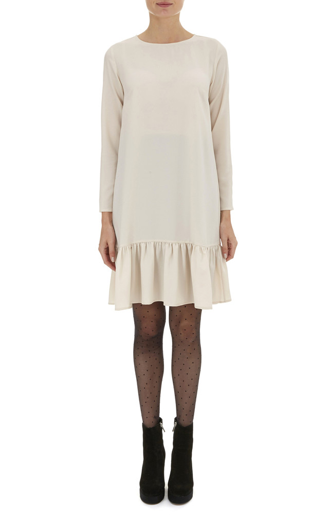 Oatmeal Pansie Frill hem Dress by Nougat London