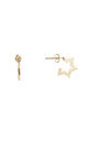 Contemporary Star Stud Earrings Gold by DOSE of ROSE