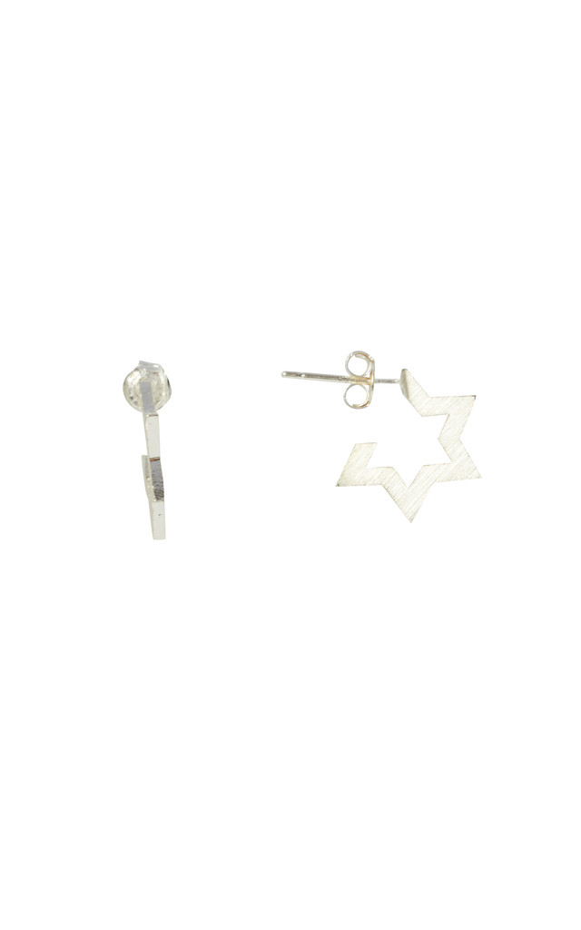 Contemporary Star Stud Earrings White Gold by DOSE of ROSE