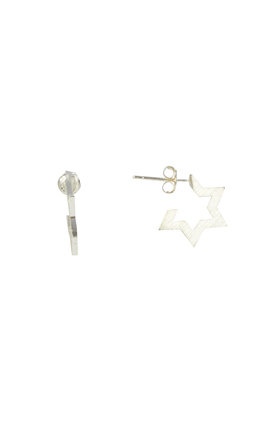Contemporary Star Stud Earrings White Gold by DOSE of ROSE Product photo