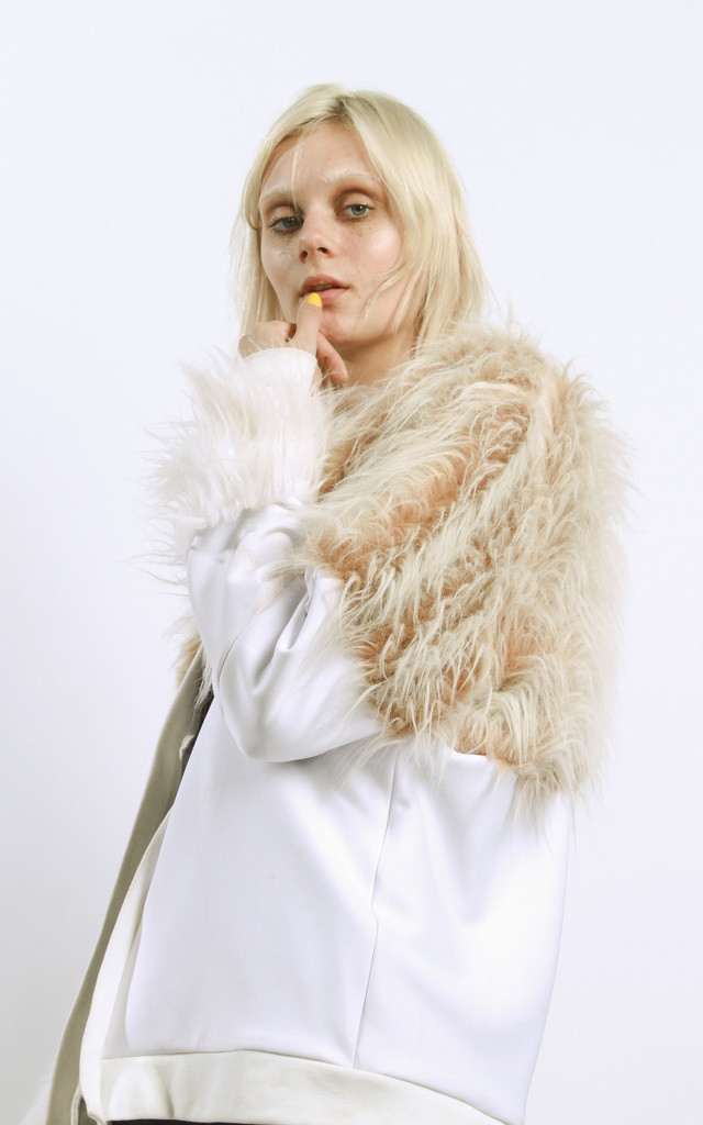 So Faux Fur Bomber by STUDIO LBW
