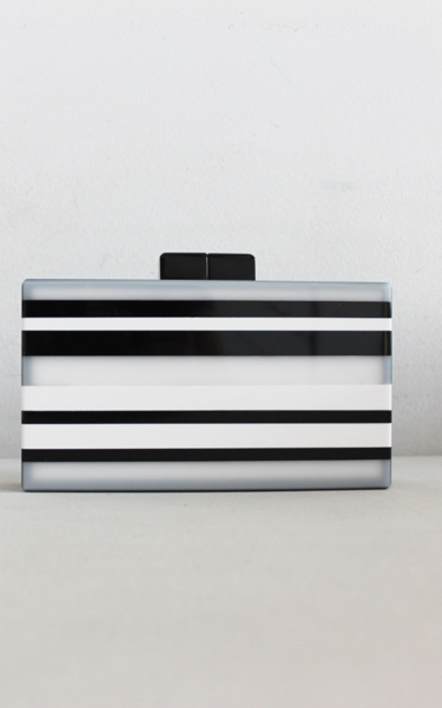 Stripes Clutch by THE CODE HANDBAGS