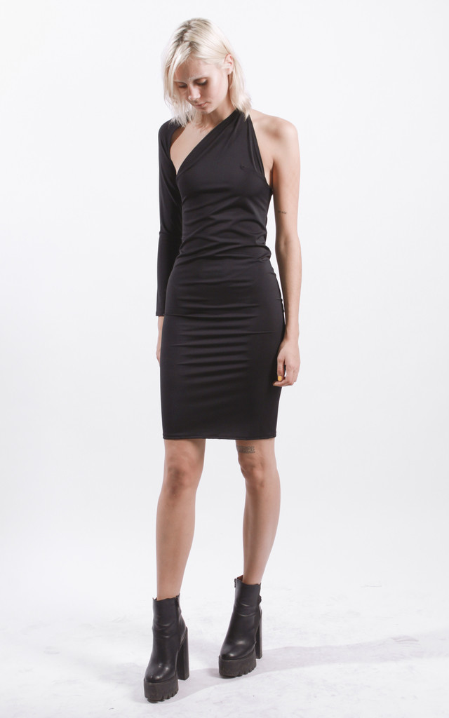 One Sleeve Bodycon Dress by STUDIO LBW