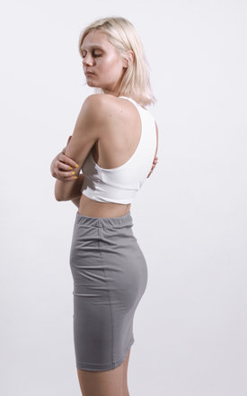 Grey Tube Jersey Skirt by STUDIO LBW