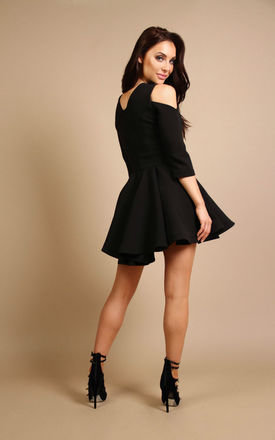 Ivy Mini Dress Black by Rebecca Rhoades