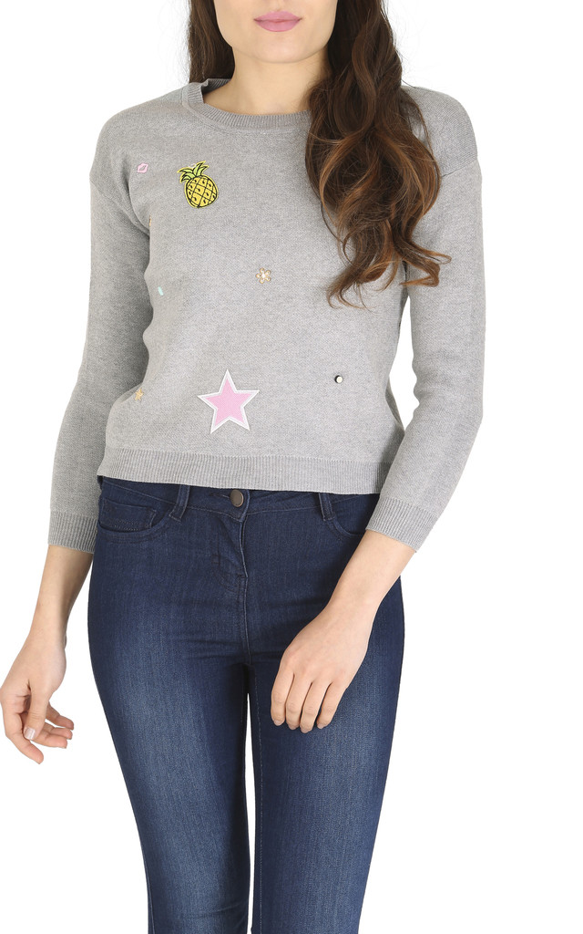Embellished Jumper by Cutie London