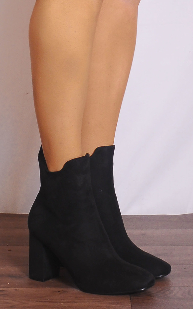 Black Chelsea Ankle Boots High Heels by Shoe Closet