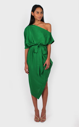 Ava Off The Shoulder Dress green by Bullet