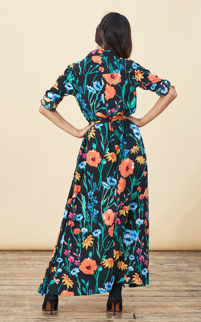 Maxi Shirt Dress in Meadow Floral image