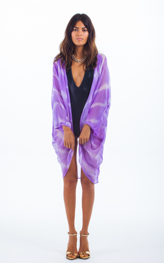 Classic Cape in Lilac Spiral Tie-Dye by Dancing Leopard