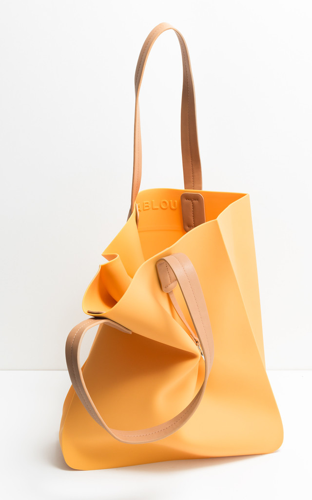 Yellow shopper tote bag by FABLOU
