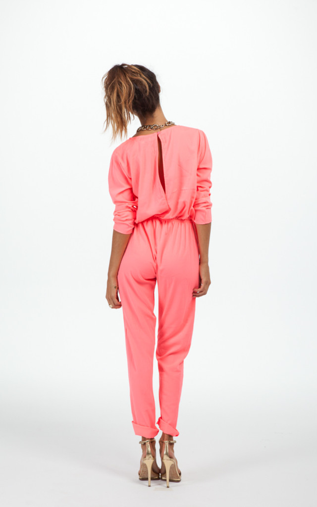 Stardust Jumpsuit in Neon Pink by Dancing Leopard