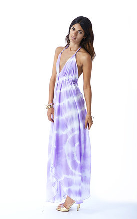 Boho Maxi in Lilac Spiral Tie-Dye by Dancing Leopard