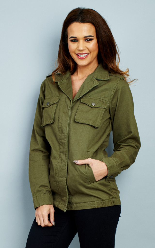 KHAKI MILITARY JACKET by Glamorous