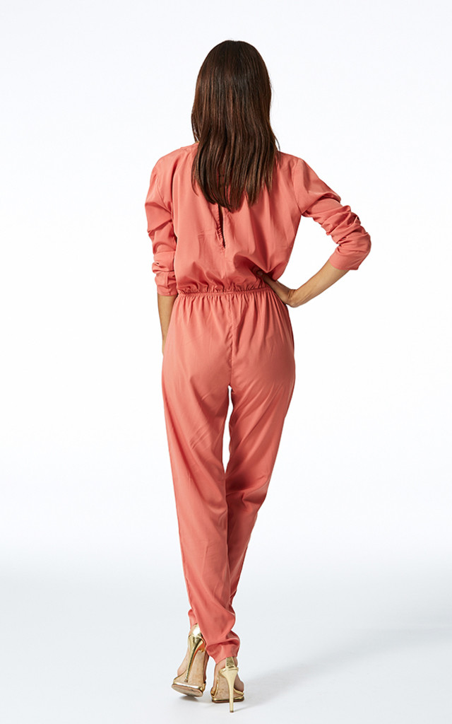 STARDUST JUMPSUIT IN DUSTY PINK by Dancing Leopard