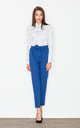 Blue bow belted trousers by FIGL