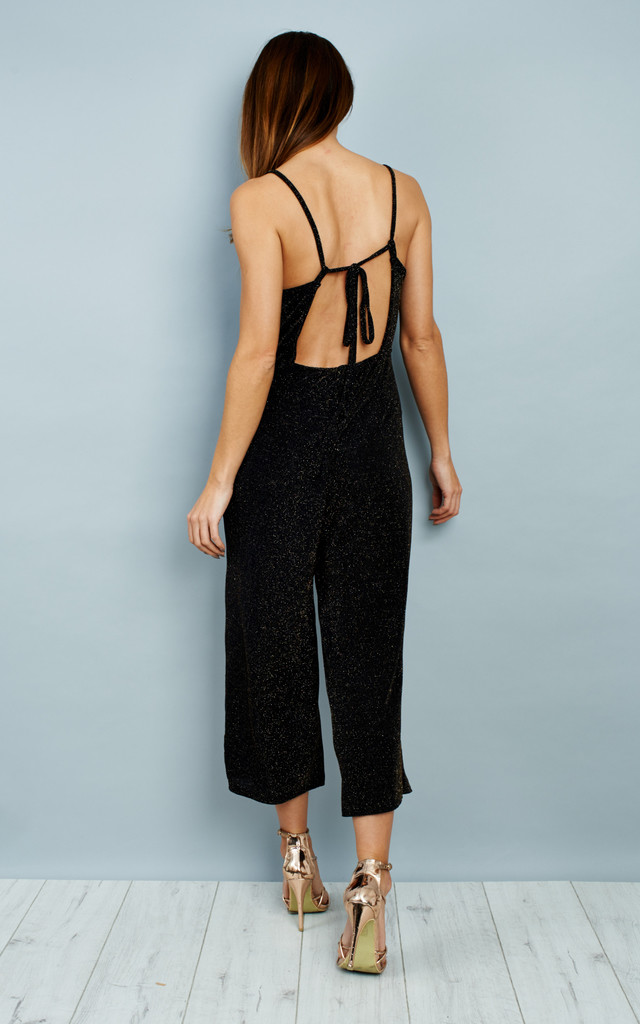 Culottes Tie Back Jumpsuit - Black by Npire London