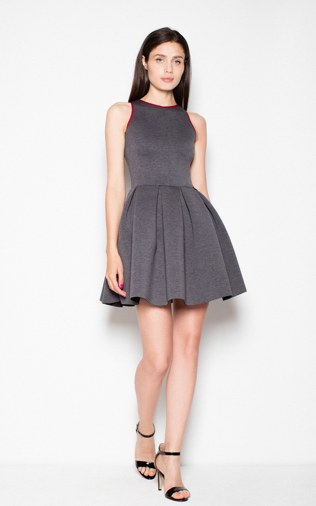 Grey/deep red Chick princess-type dress by Venaton