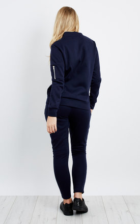 Bomber Jacket Trouser Co-Ord -  Navy by Npire London