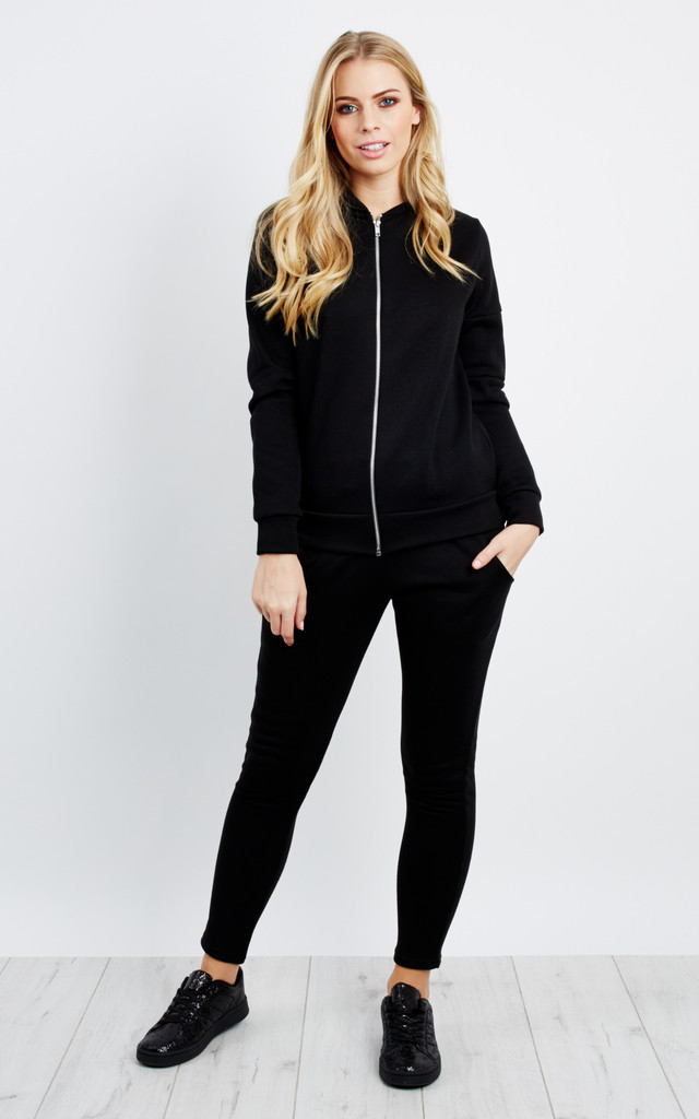 Bomber Jacket Trouser Co-Ord - Black by Npire London