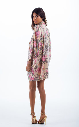 Kimono In Peach Floral by Dancing Leopard Product photo