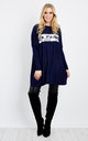 MARY – Sequin Navy Oversized Jumper by Blue Vanilla