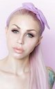 Pastel Lilac Dolly Bow Wire Headband by LULU IN THE SKY