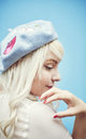 Blue Marie Antoinette Beret by Beauxoxo