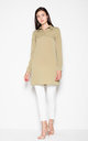 Olive Modest shirt with long sleeves by Venaton