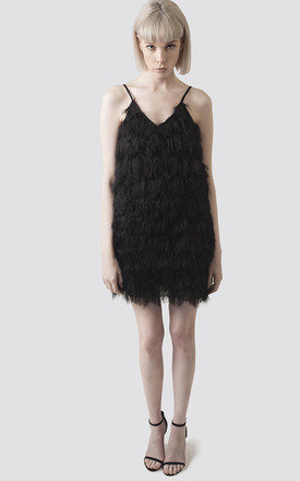Black feather Cami Dress by Moth Clothing