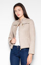 Beige Quilted jacket by Venaton