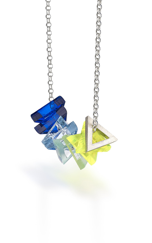 Silver Interchangeable Perspex Necklace : BOB Collection by Frillybylily