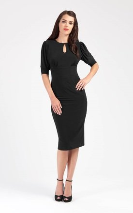 Ellen - Puff Sleeve Pencil Dress by Zoe Vine